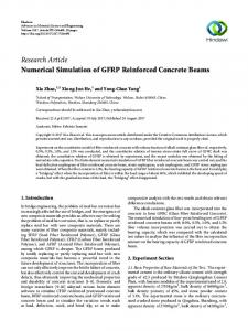 Numerical Simulation of GFRP Reinforced Concrete Beams