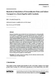 Numerical Simulation of Groundwater Flow and ...