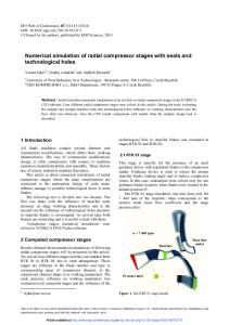 Numerical simulation of radial compressor stages with seals and ...