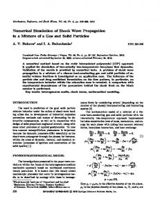 Numerical Simulation of Shock Wave Propagation in a ... - Springer Link