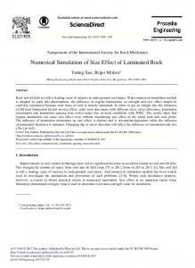 Numerical Simulation of Size Effect of Laminated Rock - ScienceDirect