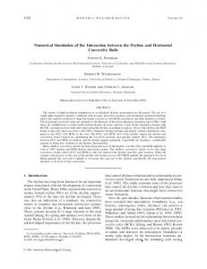 Numerical Simulation of the Interaction between the Dryline and ...