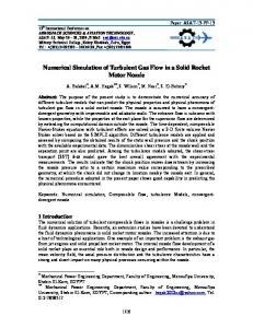 Numerical Simulation of Turbulent Gas Flow in a Solid ...