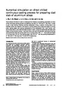 Numerical simulation on direct chilled continuous casting process for