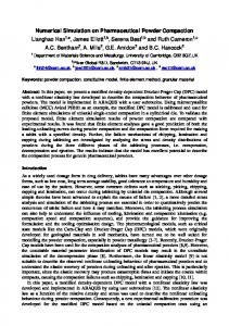 Numerical Simulation on Pharmaceutical Powder Compaction ...