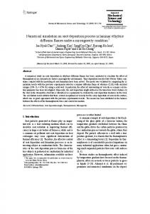 Numerical simulation on soot deposition process in ... - Springer Link