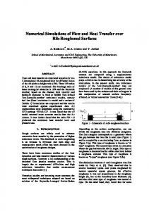 Numerical Simulations of Flow and Heat Transfer over Rib ...