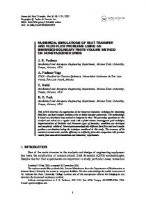 numerical simulations of heat transfer and fluid flow problems using ...