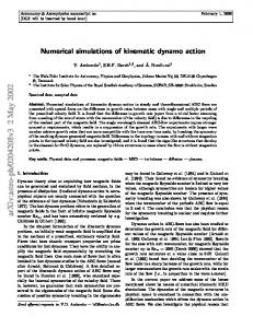 Numerical simulations of kinematic dynamo action