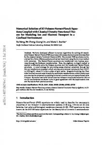 Numerical Solution of 3D Poisson-Nernst-Planck Equations Coupled ...