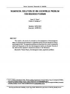 numerical solution of an eigenvalue problem for ... - SciELO Colombia