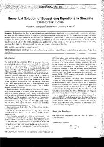 Numerical Solution of Boussinesq Equations to Simulate Dam ... - HECE