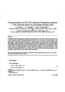 Numerical solution of KdV-KdV systems of Boussinesq equations: I