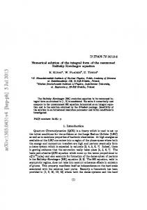 Numerical solution of the integral form of the resummed Balitsky ...