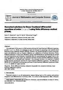 Numerical solutions for linear fractional differential equations of order 1