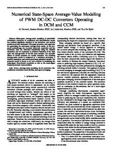 Numerical state-space average-value modeling of PWM ... - IEEE Xplore