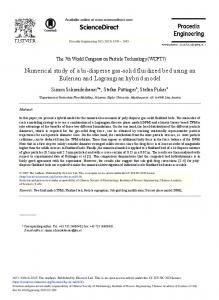 Numerical Study of a Bi-disperse Gas-solid Fluidized Bed ... - Core