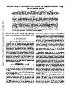 Numerical Study of the Correspondence Between the Dissipative and ...