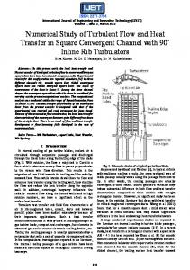 Numerical Study of Turbulent Flow and Heat Transfer in Square ...