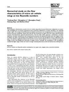 Numerical study on the flow characteristics of micro ... - SAGE Journals
