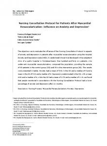 Nursing Consultation Protocol for Patients After Myocardial