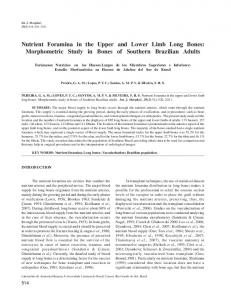 Nutrient Foramina in the Upper and Lower Limb ... - Semantic Scholar