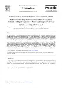 Nutrient Removal by Hybrid Subsurface Flow Constructed Wetlands ...