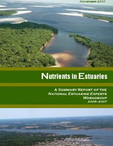 Nutrients in Estuaries - EPA