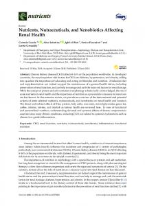 Nutrients, Nutraceuticals, and Xenobiotics Affecting ...