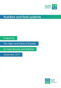 Nutrition and food systems - FAO