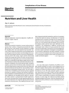 Nutrition and Liver Health