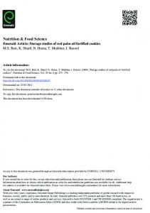 Nutrition & Food Science