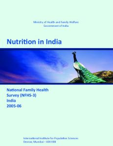 Nutrition in India [OD56] - The DHS Program