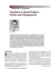 Nutrition in Renal Failure: Myths and Management