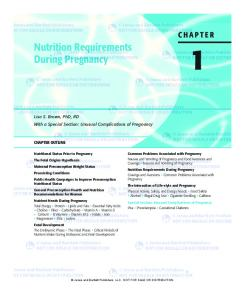 Nutrition Requirements During Pregnancy