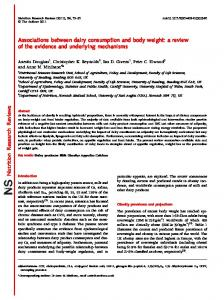 Nutrition Research Reviews - ORCA - Cardiff University