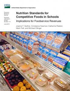 Nutrition Standards for Competitive Foods in Schools - USDA ERS