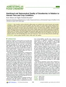 Nutritional and Nutraceutical Quality of ... - ACS Publications