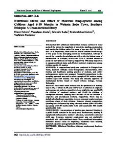Nutritional Status and Effect of Maternal Employment among Children ...