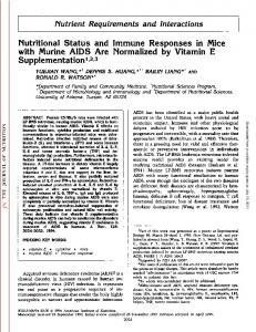Nutritional Status and Immune Responses in Mice