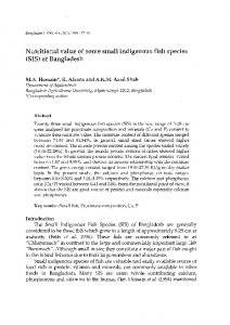Nutritional value of some small indigenous fish ... - Aquatic Commons