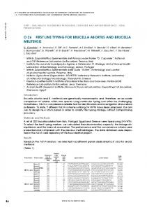 o 26 first line typing for brucella abortus and brucella
