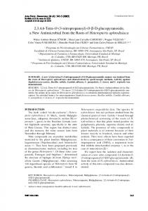 O-β-D-glucopyranoside, a New Antimicrobial from the ... - CiteSeerX