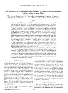 O isotope zoning in garnet and staurolite - Mineralogical Society of ...
