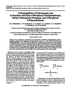 O-nucleophilicity of hydroxamate ions in reactions with ... - Springer Link