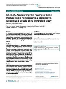 OA15.04. Accelerating the healing of bone fracture