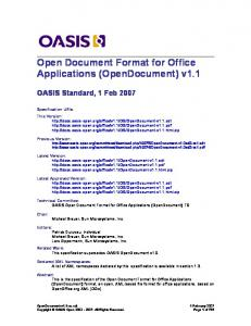 OASIS Open Office Specification