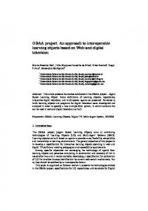 OBAA project: An approach to interoperable learning objects based on ...