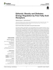 Obesity and Diabetes: Energy Regulation by Free Fatty Acid Receptors