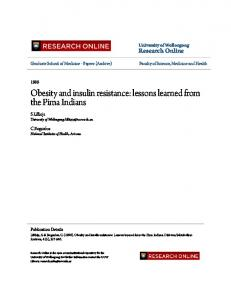 Obesity and insulin resistance: lessons learned ... - Research Online